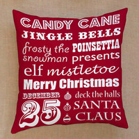 jingle bells merry christmas santa clause all about christmas pillow Pillow Cover Custom  Square Pillow Cases
