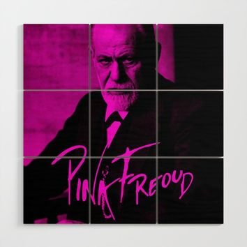 Pink Freud Wood Wall Art by paulosilveira