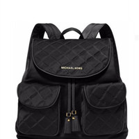 Michael Michael Kors Quilted Nylon Large Flap Backpack