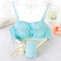 Brand Women's Underwear Set Push Up Bra Full Cup Lace Lolita Lingerie Cute Thin Bra Pink Langerie Conjunto Bra Brief Sets N50