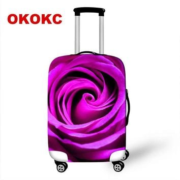 OKOKC New Thicker Flower Suitcase Protective Cover Waterproof Apply to 18''-28'' Suitcase Cover Thick Elastic Perfectly