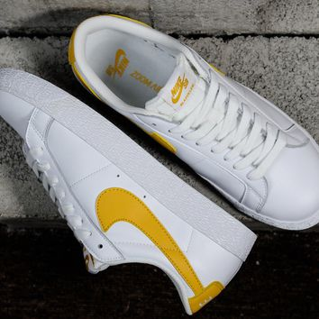 [ Free Shipping ] Nike Sport Shoes Trainers Boots Shoe Yellow White Zoom Blazer Low Skate Basketball Sneaker