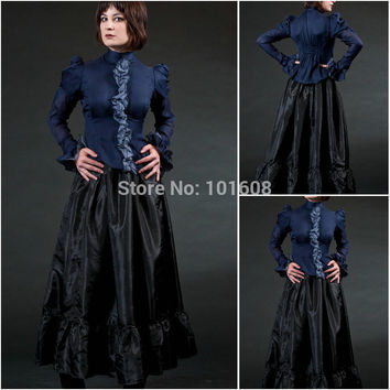 Victorian Corset Gothic/Civil War Southern Belle Ball Gown Dress Halloween dresses US 4-16 R-315 Alternative Measures - Brides & Bridesmaids - Wedding, Bridal, Prom, Formal Gown