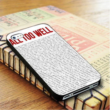 All To Well Lyric Taylor Swift iPhone 4 | iPhone 4S Case