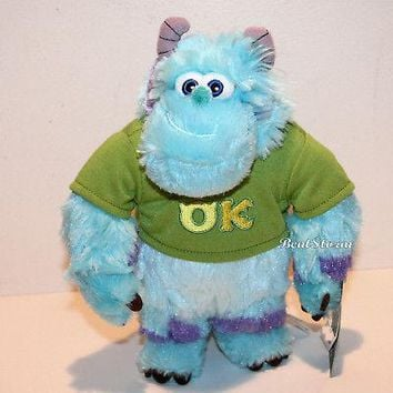 "Licensed cool 9"" Sulley OK Monsters University Inc. plush bean bag Disney Store EXCLUSIVE 2013"