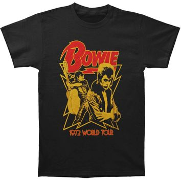 David Bowie Men's  1972 World Tour Slim Fit T-shirt Black