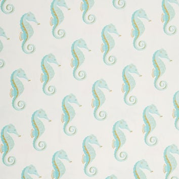 Seahorse Gift Wrap Sheets, Aqua, Set of 6, Wrapping Paper