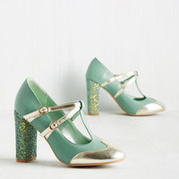 Strut in the World Heel in Seafoam | Mod Retro Vintage Heels | ModCloth.com