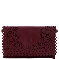 Burgundy Moonshine Clutch