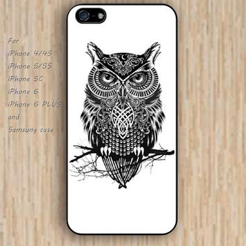 iPhone 5s 6 case Retro cartoon owl colorful phone case iphone case,ipod case,samsung galaxy case available plastic rubber case waterproof B505
