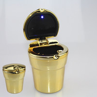 High Quality Chrome LED Car Ashtray