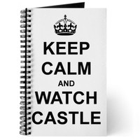 """""""Keep Calm And Watch Castle"""" Journal"""