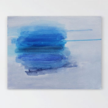 Contemporary Blue Painting, Original Abstract