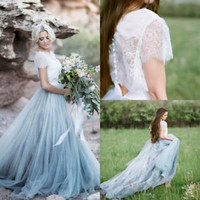 Modern Boho Wedding Dresses Fairy Tale Bridal Dress Custom Size 2 4 6 8 10 12 14