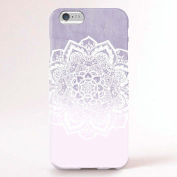 iPhone 6 Case, iPhone 6 Plus Case, iPhone 5S Case, iPhone 5 Case, iPhone 5C Case, iPhone 4S Case, iPhone 4 Case - Mandala purple ombre