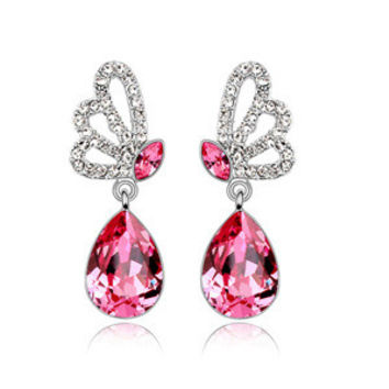 Crystal Butterfly Earrings [9819388431]