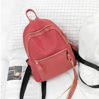 Women Tassel Backpack New Fashion feminine Nylon backpack for teenage girls school bag ladies Small backpack kanken backpack