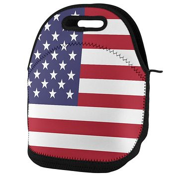4th of July American Flag Lunch Tote Bag