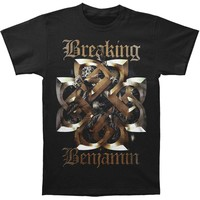 Breaking Benjamin Men's  Floral Tee T-shirt Black