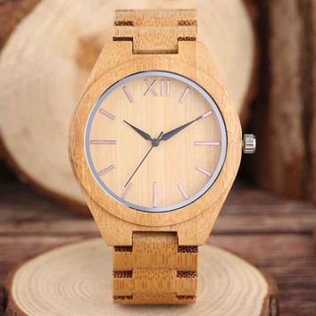 Minimalist Full Bamboo Quartz Wooden Watch