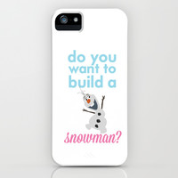do you want to build a snowman... olaf.. frozen. iPhone & iPod Case by studiomarshallarts