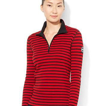 Lauren Ralph Lauren Half-Zip Striped Pullover