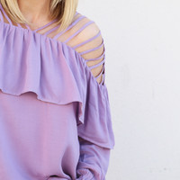 The Lilly Top {Lavender}