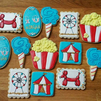 Carnival Themed Sugar Cookies  Circus Themed Sugar Cookies