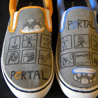 Portal Shoes Custom Painted Size 9