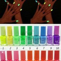 7ml Neon Fluorescent Nail Polish Varnish Lacquer Paint Nail Art Glow in the Dark