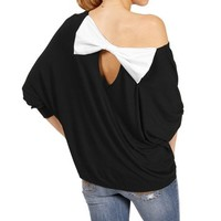 Black Off The Shoulder 34 Sleeve Top