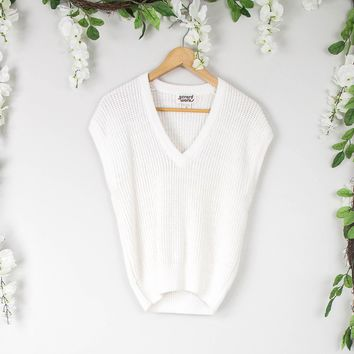 Vintage White Sweater Blouse