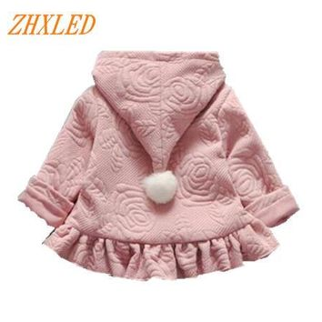 2017 spring autumn day baby jacket boy girl cotton clothing hooded cardigan jacket Christmas children's brand 1-3 Dress for girl