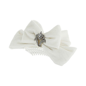 Velvet Bow Hair comb - New In This Week  - New In