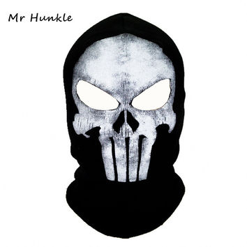Black Punisher Mask Balaclava Beanies Hats Men Ghost Skull Full Face Warmly Mask Hood Beanie Ggorros Hombre Casquette Bbalaclava