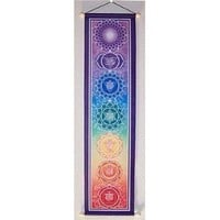 "6"" X 24"" Small Chakra Banner, By Bryon Allen"