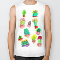 Colored Cactus Biker Tank by Yuval Ozery