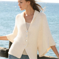 Summer jacket cardigan knitted jacket oversize sweater large long sleeves cardigan cotton jacket CHOICE of COLORS  fashion Drops Lilith