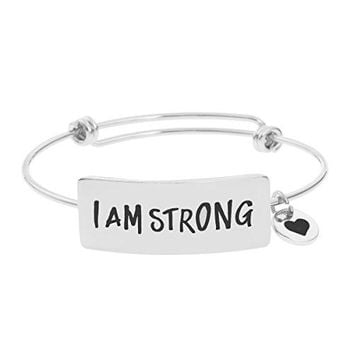 Inspirational Feminist Bracelets Jewelry for Women Motivational Friendship Bangle for Teen Girl Engraved