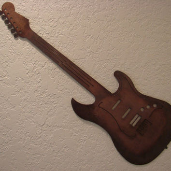 "Sunburst ""Strat"" Guitar Wall Art"
