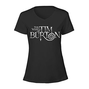Timico The World of Tim Burton Lady V Neck T Shirts