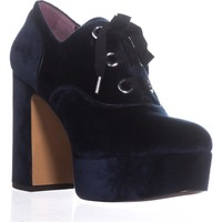 Marc Jacobs Beth Platform Oxford Pumps, Navy, 10 US / 40 EU