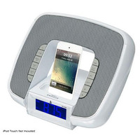 iPod & iPhone Docking/Aux input Clock Radio W/ FM Reciever & Dual Alarm Clock