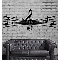 Notes Music Paper Song Composing Art Wall MURAL Vinyl Art Sticker Unique Gift (m030)