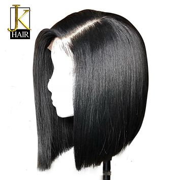 Short Human Hair Bob Wigs For Women Ombre 1B/27 Black Roots Remy Brazilian Lace Front Human Hair Wigs Plucked With Baby Hair JK