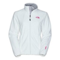 The North Face Womens Pink Ribbon Osito Jacket TNF White