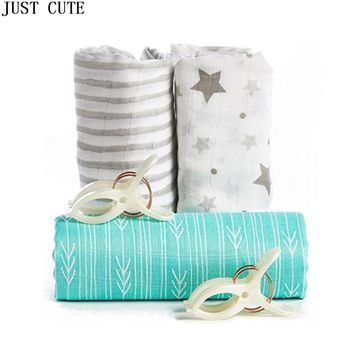 Baby Bamboo Muslin Swaddle Blanket Nautical Design Infant Muslin Best Organic Cotton Bedding Newborn Bath Towel Sleeping Blanket