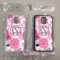 Monogram Phone Case floral For iPhone 4/4s Cases, iPhone 5 Cases, iPhone 5S/5C Cases, iPhone 6 cases & Samsung Galaxy S2/S3/S4/S5 Cases