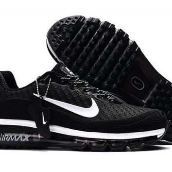 New Arrivel Nike Air Max 2017. 5 KPU BlackAnd White Sneakers Unisex Running Shoes