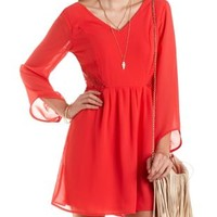 Lace Cut-Out Chiffon Dress by Charlotte Russe